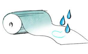 Vlizelin, folie vodorozpustné