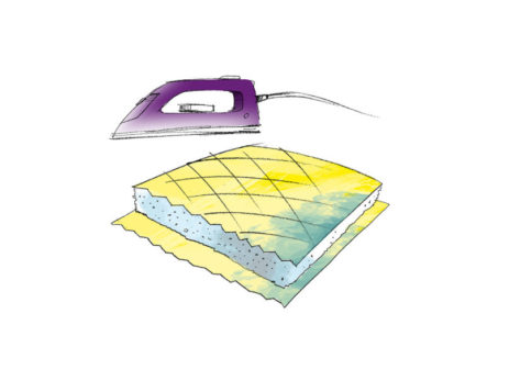 Výplňový podlepovací (přižehlovací) vložkový materiál