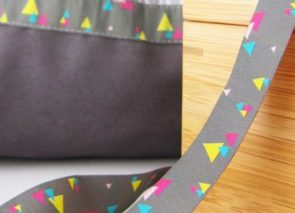 Stuha – geometrie šedá